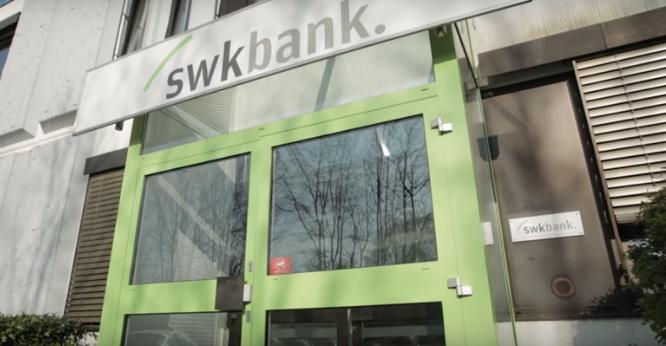 Screenshot: Die SWK-Bank wurde in den 1950er Jahren gegründet