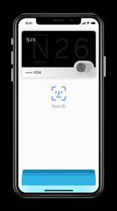 Apple Pay auch mit der N26 Bank.