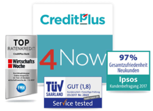 CreditPlus4Now. Guter Service. Bildquelle: CreditPlus Bank AG